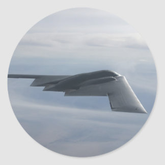 B-2 alcohol - bombardero de la cautela pegatina redonda