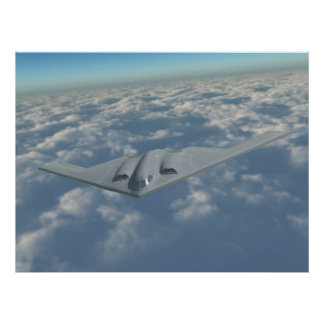 B-2 Bomber Above the Clouds Poster
