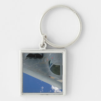B-2 Spirit Silver-Colored Square Keychain