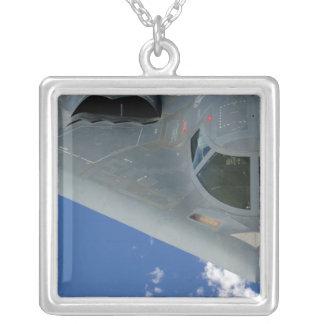 B-2 Spirit Square Pendant Necklace