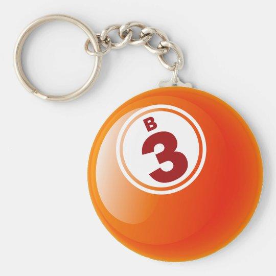 B 3 BINGO BALL KEYCHAIN