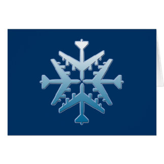 B-52 Aircraft Snowflake Card