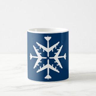 B-52 Aircraft Snowflake Coffee Mug