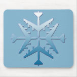 B-52 Aircraft Snowflake Mouse Pad