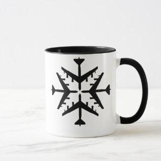 B-52 Aircraft Snowflake Mug