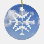 B-52 Aircraft Snowflake Ornament