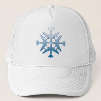 B-52 Aircraft Snowflake Trucker Hat