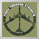 B-52 - Paz con la fuerza - símbolo de paz Póster