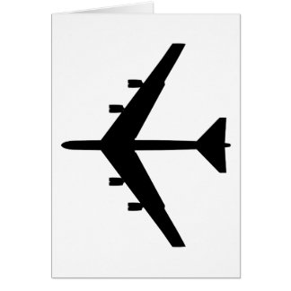 B-52 Silhouette - Black Card