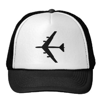 B-52 Silhouette - Black Trucker Hat