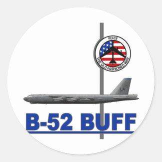B-52 Stratofortress Pegatina Redonda