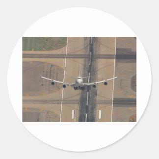 B-747 Hi-Perf Take-off Classic Round Sticker