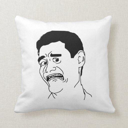 B!7CH Please face Throw Pillows