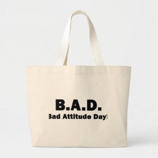B.A.D. Bad Attitude Day! Jumbo Tote Bag