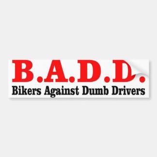B.A.D CAR BUMPER STICKER