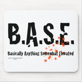 B.A.S.E. Jumping Skydiver Mouse Pad
