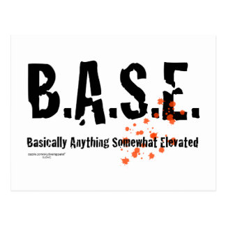 B.A.S.E. Jumping Skydiver Postcard
