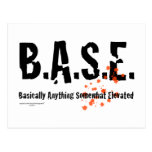 B.A.S.E. Skydiver de salto Postales