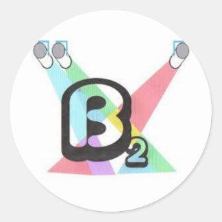 B (ajustado) pegatina redonda