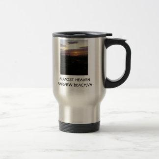 b, ALMOST HEAVENFAIRVIEW BEACH,VA 15 Oz Stainless Steel Travel Mug