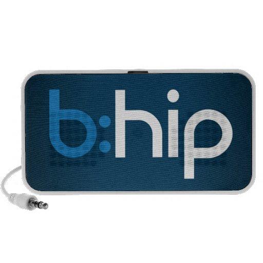 b: altavoz de la cadera para el teléfono, el mp3 o