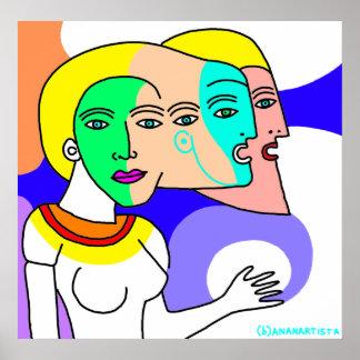 (b)ananartista - portrait of woman poster