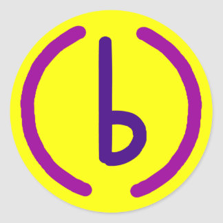 (b)ananartista simple sigil classic round sticker