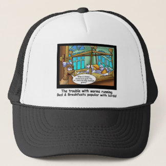 B & B Worm Host Bird Guests Funny Gifts & Tees Trucker Hat