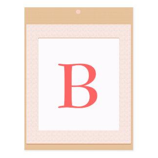 B Baby block  initial shower decoration Postcard
