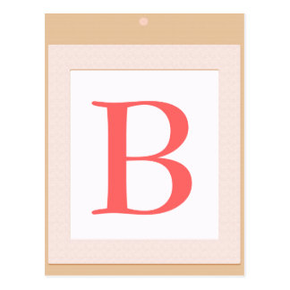 B Baby block  initial shower decoration Postcard
