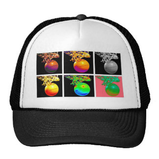 B-Ball Basketball Hoops Pop Art Trucker Hat