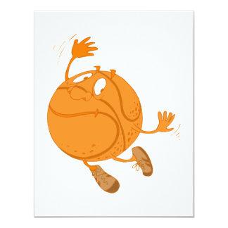 B-Ball Man 4.25x5.5 Paper Invitation Card