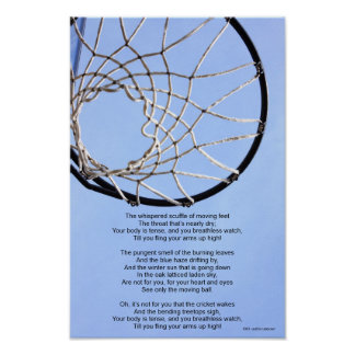 B-Ball Net Poster with poem
