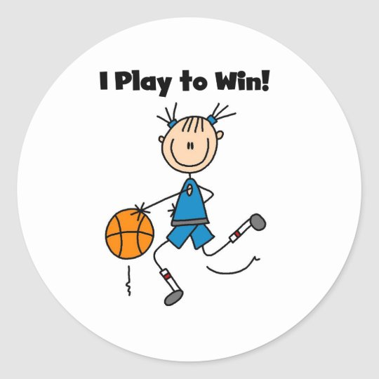 B-Ball Play to Win Classic Round Sticker