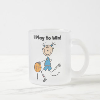 B-Ball Play to Win Frosted Glass Coffee Mug