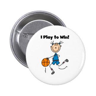 B-Ball Play to Win Pinback Button