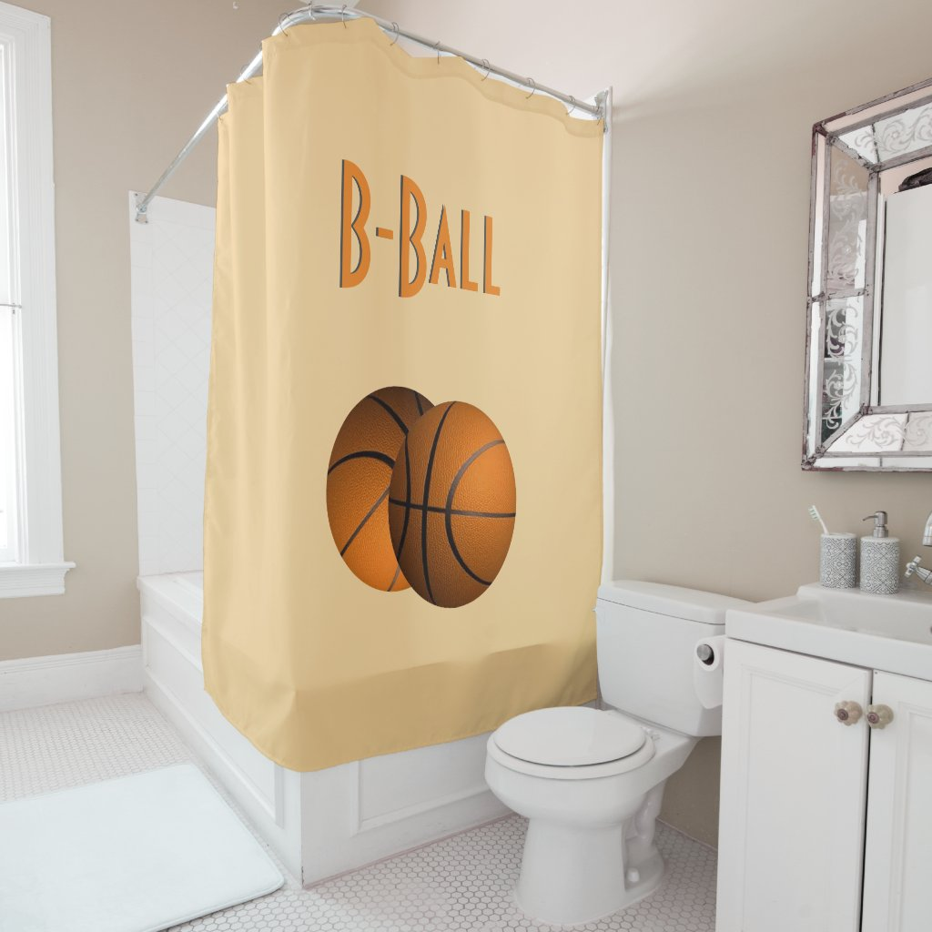 B-Ball Sport Shower Curtain