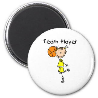 B-Ball Team Player Fridge Magnets