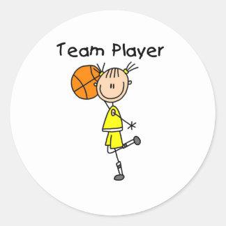 B-Ball Team Player Sticker