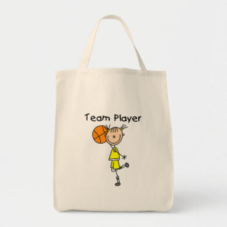 B-Ball Team Player Tote Bag