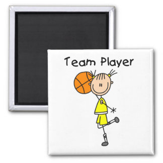 B-Ball Team Player Tshirts and Gifts 2 Inch Square Magnet