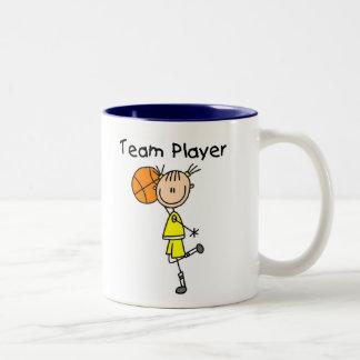 B-Ball Team Player Two-Tone Coffee Mug
