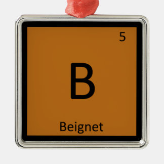 B - Beignet Appetizer Chemistry Periodic Table Christmas Ornaments