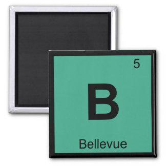 B - Bellevue Nebraska Chemistry Periodic Table Refrigerator Magnet