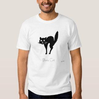 B, Black Cat T-shirt