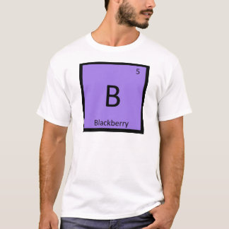B - Blackberry Fruit Chemistry Periodic Table T-Shirt