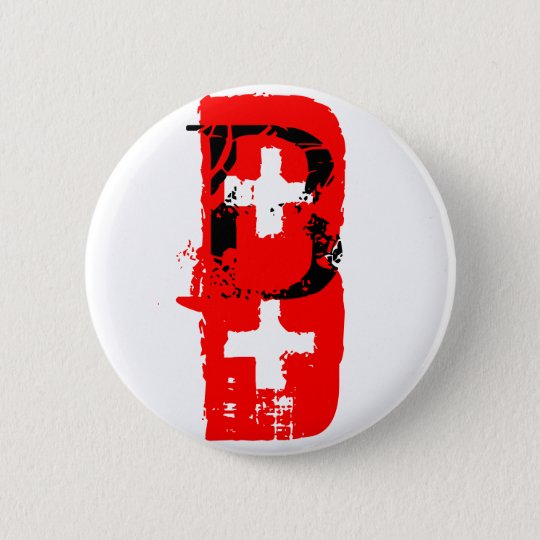 B+ Blood Type Button