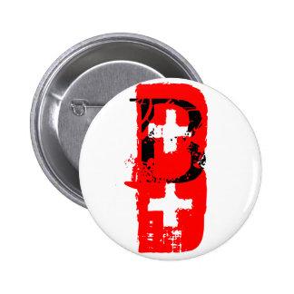 B+ = blood type pinback button