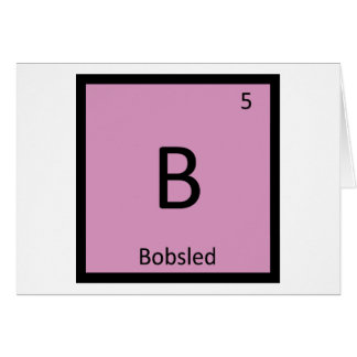 B - Bobsled Sports Chemistry Periodic Table Card