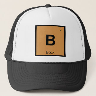 B - Bock Beer Chemistry Periodic Table Symbol Trucker Hat